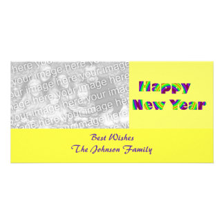 O feliz ano novo cartão com fotos