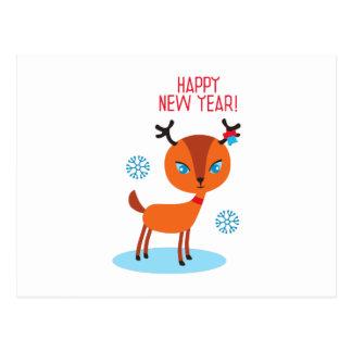 O feliz ano novo! cartoes postais