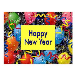 O feliz ano novo cartão postal