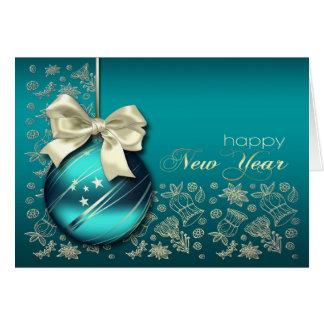 O feliz ano novo. Cartões customizáveis