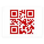 O feliz ano novo! -- Código de QR Cartões Postais