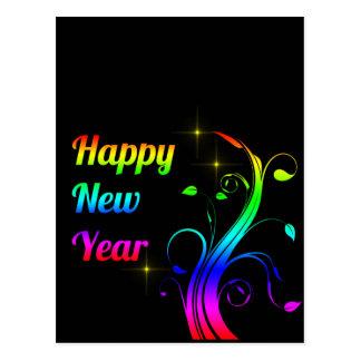 O feliz ano novo colorido cartão postal