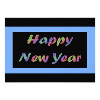 O feliz ano novo colorido