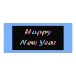 O feliz ano novo colorido convites personalizados