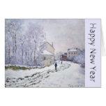 O feliz ano novo com Claude Monet - cartões