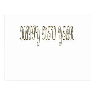 O feliz ano novo com cobra do motivo cartão postal