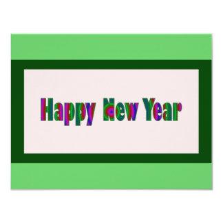 O feliz ano novo convite 10.79 x 13.97cm