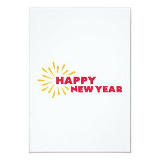 O feliz ano novo convite