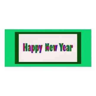 O feliz ano novo convite 10.16 x 23.49cm