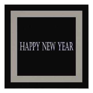 o feliz ano novo convite quadrado 13.35 x 13.35cm