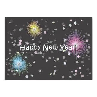 O feliz ano novo! convite 12.7 x 17.78cm