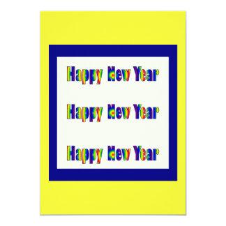 O feliz ano novo convite 12.7 x 17.78cm