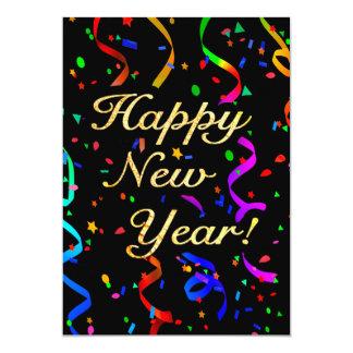 """O """"feliz ano novo! """" convite 12.7 x 17.78cm"""