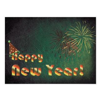 O feliz ano novo convite 13.97 x 19.05cm