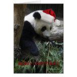 O feliz ano novo da panda do Feliz Natal! Cartões