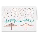 O feliz ano novo de San Francisco! Cartão