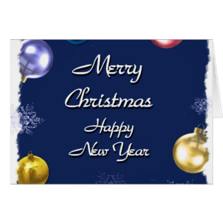 O feliz ano novo do Feliz Natal Cartao