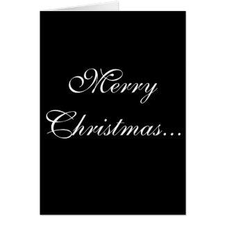 O feliz ano novo do Feliz Natal…! Cartão