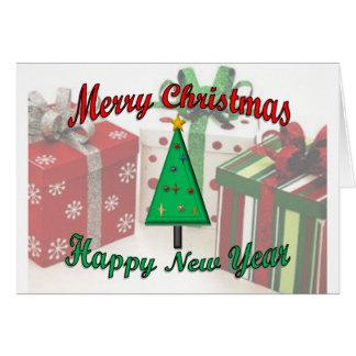 O feliz ano novo do Feliz Natal Cartão Comemorativo