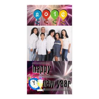 O feliz ano novo feito sob encomenda cartão com foto
