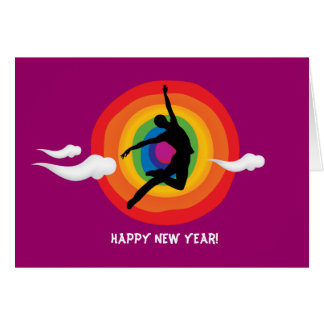O feliz ano novo! (Gay, lésbica) Cartão Comemorativo