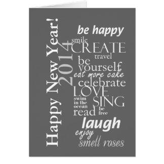 o feliz ano novo inspirado 2014 do motivtional cartao