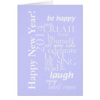 o feliz ano novo inspirado 2014 do motivtional cartão comemorativo