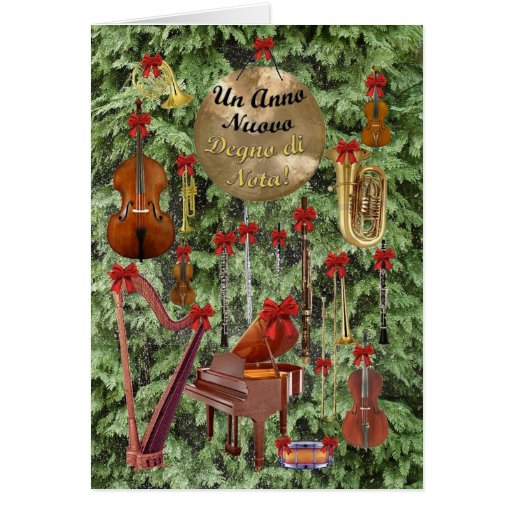 O feliz ano novo italiano cartão comemorativo