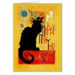 O feliz ano novo Noir do bate-papo Cartão