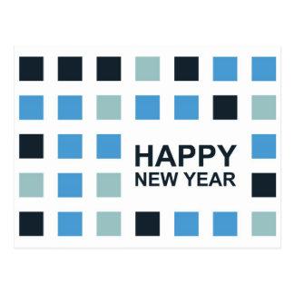 o feliz ano novo (quadrados da modificação) cartão postal