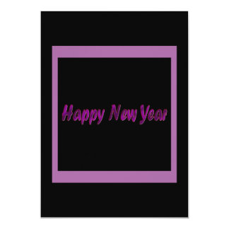 o feliz ano novo roxo convite personalizado