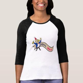 O feliz ano novo Turquia 2014 que brinda desenhos Tshirt