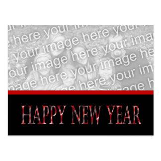 o feliz ano novo vermelho cartões postais