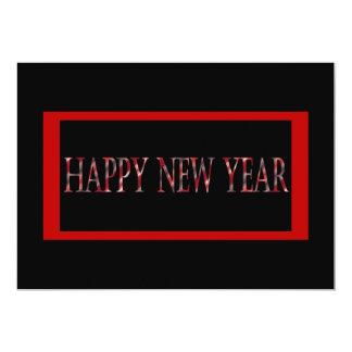 o feliz ano novo vermelho convite 12.7 x 17.78cm