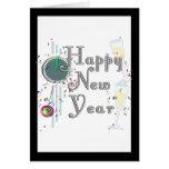 O feliz ano novo - vidros e pulso de disparo de Ch Cartoes