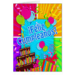 O ¡ Feliz Cumpleaños com divertimento colore o Cartoes