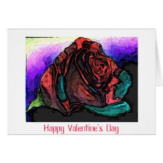 O feliz dia dos namorados aumentou cartão comemorativo