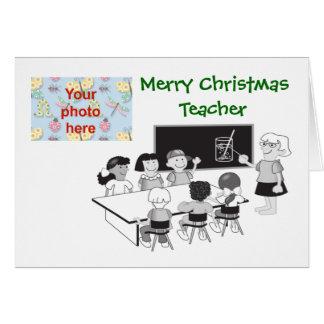 O Feliz Natal à escola do professor adiciona a Cartão Comemorativo