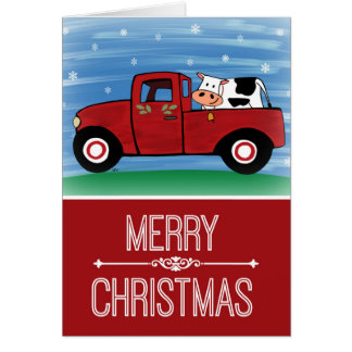 O Feliz Natal acobarda-se em um cartão vermelho do