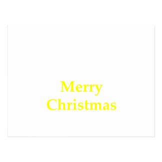 O Feliz Natal amarela os presentes de Zazzle do Cartões Postais