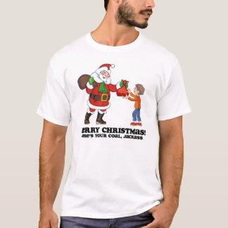 O Feliz Natal aqui é sua camisa de carvão