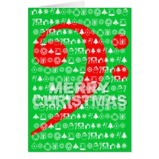 O Feliz Natal carda o verde da nota da música do Cartão De Nota