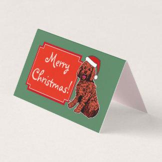 O Feliz Natal de Labradoodle dobrou o cartão da