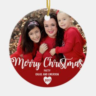 O Feliz Natal personalizou o ornamento 2017 da