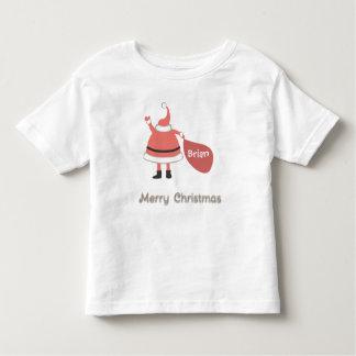 O Feliz Natal personalizou o saco do papai noel Camiseta Infantil