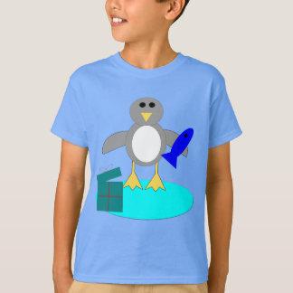 O Feliz Natal que pesca o pinguim caçoa a camisa