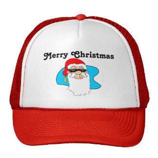 O Feliz Natal refrigera o papai noel nos óculos de Boné