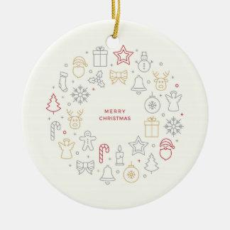 O Feliz Natal Vector em volta do ornamento