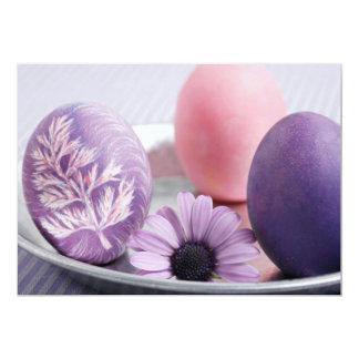 O felz pascoa decorou convites de festas dos ovos convite 12.7 x 17.78cm