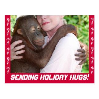 O feriado abraça o cartão